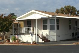 white Mobile Home with porch